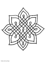 Colouring Pages Rangoli Patterns Coloring Printable Abstract Free