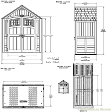 Suncast Shed Bms7400 Accessories by Suncast 7x4 Cascade Two Plastic Shed Greenhouse Stores