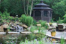 Aquascape Patio Pond Australia by Patio Gazebo Pond Stone Bridge Traditional Garden Other