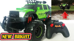 New Bright RC Remote Control Monster Rhino 4x4 All Wheel Drive ... New Bright Monster Jam Radio Control And Ndash Grave Digger Remote Truck G V Rc Car Jams Amazoncom 124 Colors May Vary Gizmo Toy 18 Rc Ff Pro Scorpion 128v Battery Rb Grave Digger 115 Scalefreaky Review All Chrome Scale Mega Blast Trucks Triangle By Youtube 1530 Pops Toys New Bright Big For Monster Extreme Industrial Co