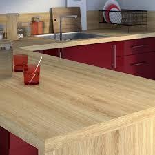 stratifié pour cuisine plan de travail stratifié effet chêne naturel mat l 315 x p 65 cm