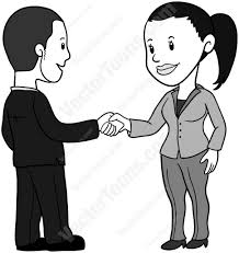 Disney Characters Shaking Hands Clipart