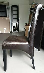 5 esszimmer stühle hochlehner kunstleder dunkelbraun
