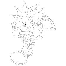 Desenho De Silver Sonic Para Colorir Tudodesenhos