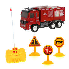 100 Rc Truck Stop RC Red Rescue Fire Remote Control Toy Vehicle Play Set