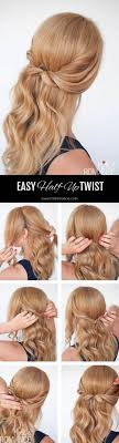Easy Half Up Twist Hairstyle Tutorial