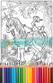 Fairy And Unicorn Coloring Pages Princess Page Fairies For