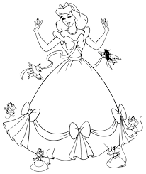 Pretentious Inspiration Princess Pictures Coloring Pages Disney Free Printable Cinderella For Kids