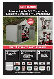 Suncast Storage Shed Sears by Craftsman Cbms8165 8 4 5