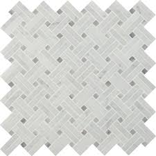 ms international carrara white basketweave 12 in x 12 in x 10 mm