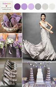 Grey Purple Wedding Colours Palettes