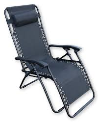 Ebay Patio Furniture Uk by Black Reclining Garden Sun Lounger Armrest Headrest Relaxing
