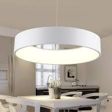 runden esszimmer led decke hängige beleuchtung einfache