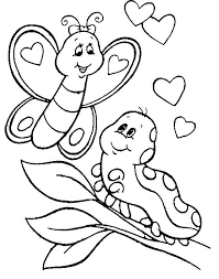 Animals Coloring Pages Sweet Looking Baby Page For Kids Printable Cute Butterfly