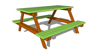 picnic table plans free youtube