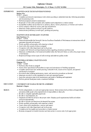 Download Maintenance Painter Resume Sample As Image File