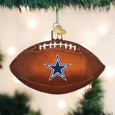 Old World ChristmasR Dallas Cowboys NFL Football Glass Ornament