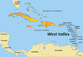 Map Card Of The West Indies Updated