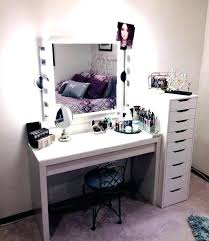 Makeup Table With Mirror Vanity Table With Lights And Mirror