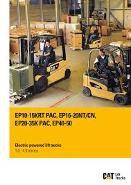 100 Cat Lift Trucks Electric Lift Trucks Range By Issuu