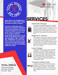 Total Xpress | Intermodal Drayage | Intermodal Trucking Company Portland Container Drayage And Trucking Service Services Exclusive New Driver Group Formed As Wait Times Escalate At Cn How Often Must Trucking Companies Inspect Their Trucks Max Meyers Jb Hunt Revenues Rise On Higher Freight Volumes Transport Topics Intermodal Directory Intermodal Ra Company Competitors Revenue Employees Owler Frieght Management Tucson Az J B Wikipedia List Of Top Companies In India All Jung Warehousing Logistics St Louis Mo