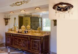 Chandelier Over Bathroom Vanity by Beaux Artes Recessed Chandelier Display Closeup Beaux Arts
