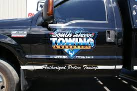 South Shore Towing Utility Truck - Coastal Sign & Design, LLC