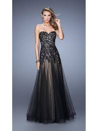 line sweetheart long black lace and tulle party evening prom