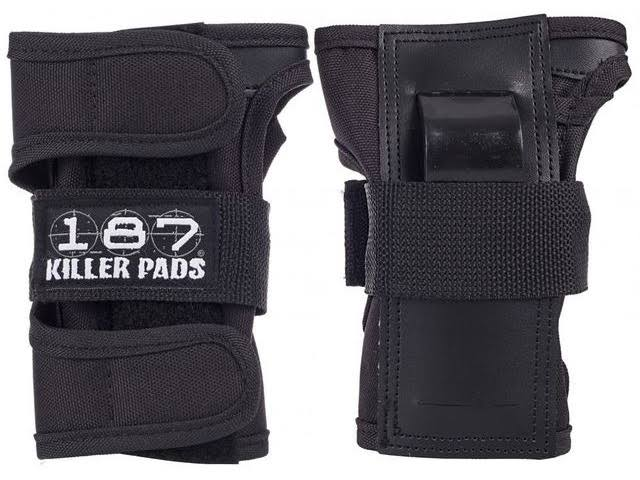 187 Killer Pads Skateboard and Roller Blade Wrist Guards - Black, Medium