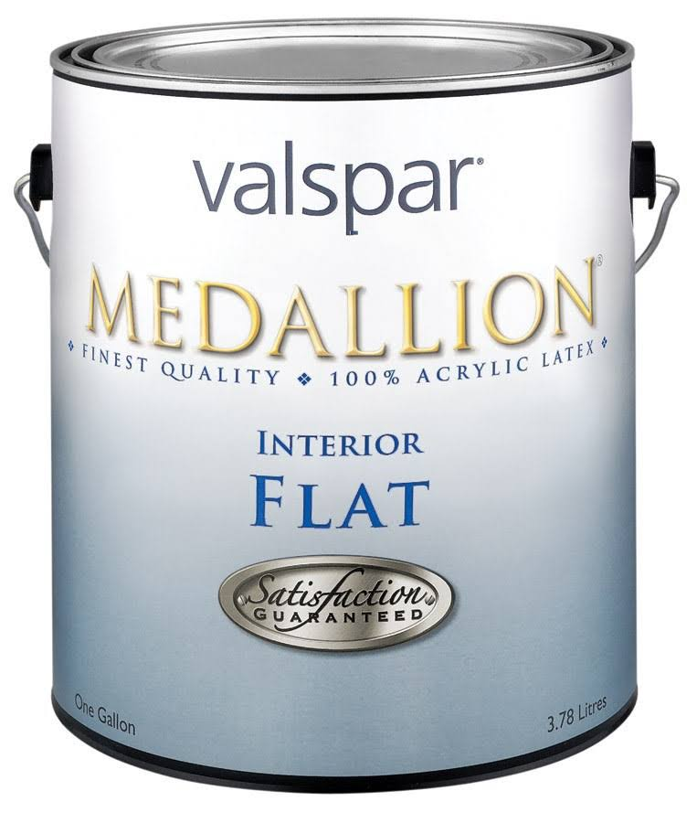 Valspar 27-1408 GL Medallion Interior Flat Wall Latex Paint - Pastel Base, 1 Gallon