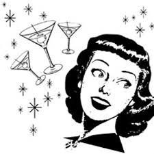Vintage Cocktail Party Clipart