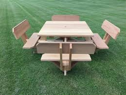 stunning square picnic table square picnic table plans free