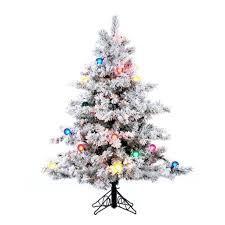 Vickerman Slim Flocked Christmas Tree by Amazon Com Vickerman Pre Lit Flocked Alaskan Pine Tree With 200