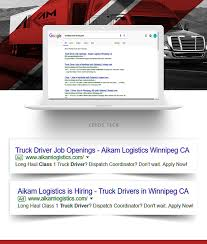 100 Indeed Truck Driver Aikam Logistics Canada Digital Campaign On Wacom Gallery