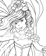 Coloring Page Melody Fairy