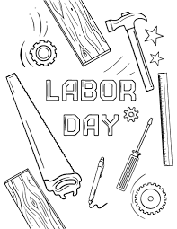 Trend Labor Day Coloring Pages Free Printable