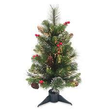 2ft Unlit Artificial Christmas Tree LED Fiber Optic Crestwood Spruce