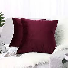 lewondr samt kissenbezug 45x45cm 2 set sanft einfarbige moderne quadratische kissen hülle zierkissenbezüge für weihnachten deko wohnzimmer sofa