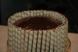 Pirouline cake