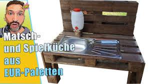 spielküche aus europaletten matschküche oder gartenküche für den kindergarten neu