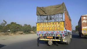 100 Vh Trucks Colorful Truck On The Road In India Stock Video Footage