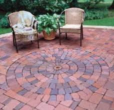 Menards Patio Paver Kits by Patio Pavers Circular Pattern The Home Depot Community