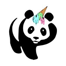 Surprised Panda Ice Cream Unicorn Funny Pandicorn T Shirt