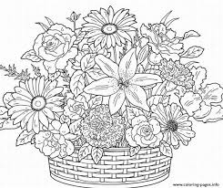Printable Coloring Pages For Adults Flowers AZ
