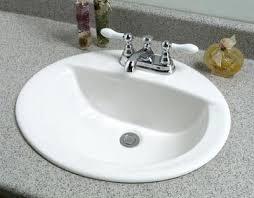 Kohler Overmount Bathroom Sinks kohler serif ceramic drop in bathroom sink in white with overflow