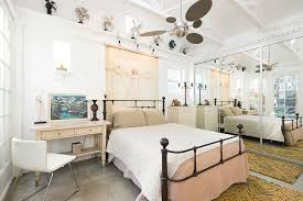 Shabby Chic White Ceiling Fans by Bedrooms Chic Master Bedroom With White Bed And Wooden Nighttand