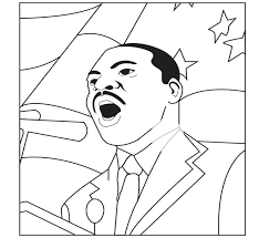 Martin Luther King Speech Coloring Sheet