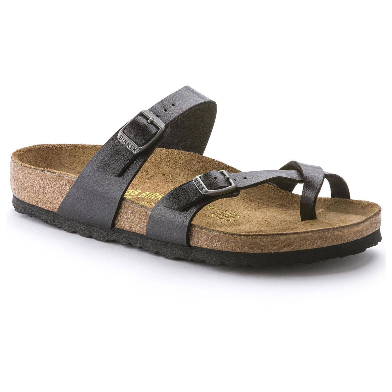 Birkenstock Women's Mayari Leather Slides Sandals - Black, 9.5 US