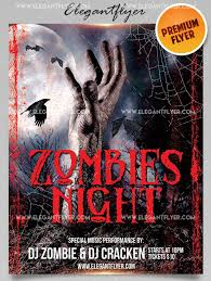 Free Halloween Flyer Templates by Zombie Flyer Template 21 Zombie Flyer Templates Free Psd Eps