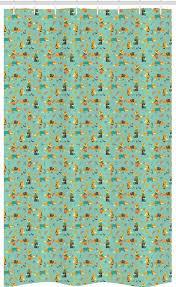abakuhaus duschvorhang badezimmer deko set aus stoff mit haken breite 120 cm höhe 180 cm kindergarten füchse mit brille kaufen otto